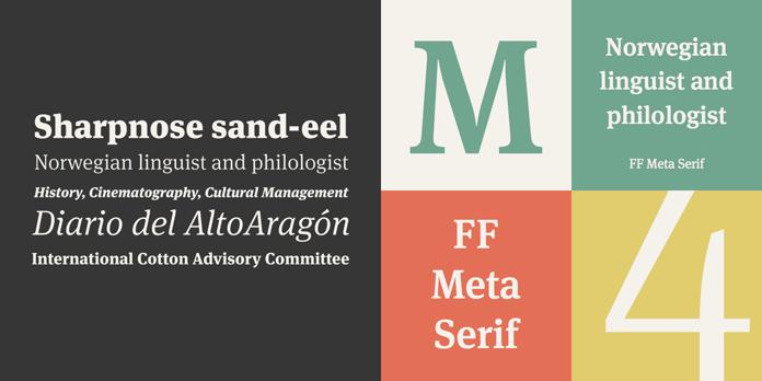 FF Meta Serif from FontFont.