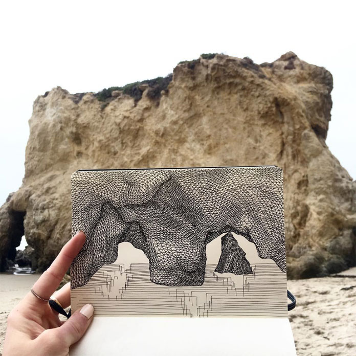 Filling in structures at El Matador State Beach.