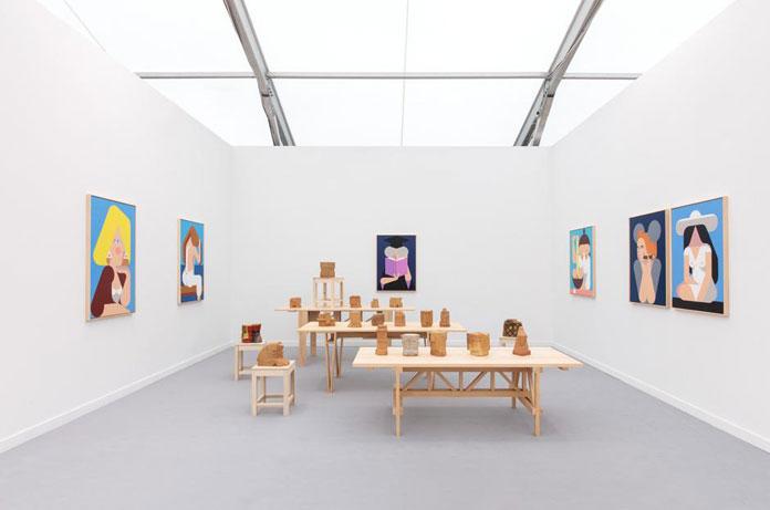 Leonhard Hurzlmeier, installation view at Frieze New York, 2016.