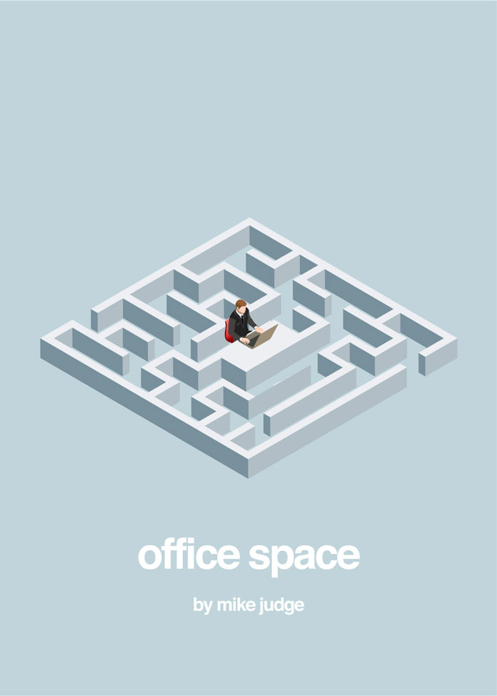 Office Space by Mike Judge – alternative movie posters by Peter Majarich.