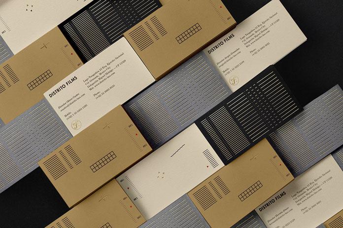 Distrito Films corporate identity by Anagrama Studio.