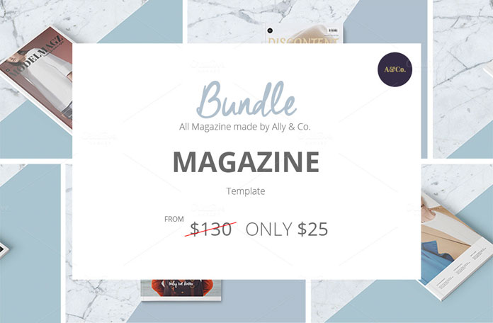 Download 6 magazine templates for only $25.