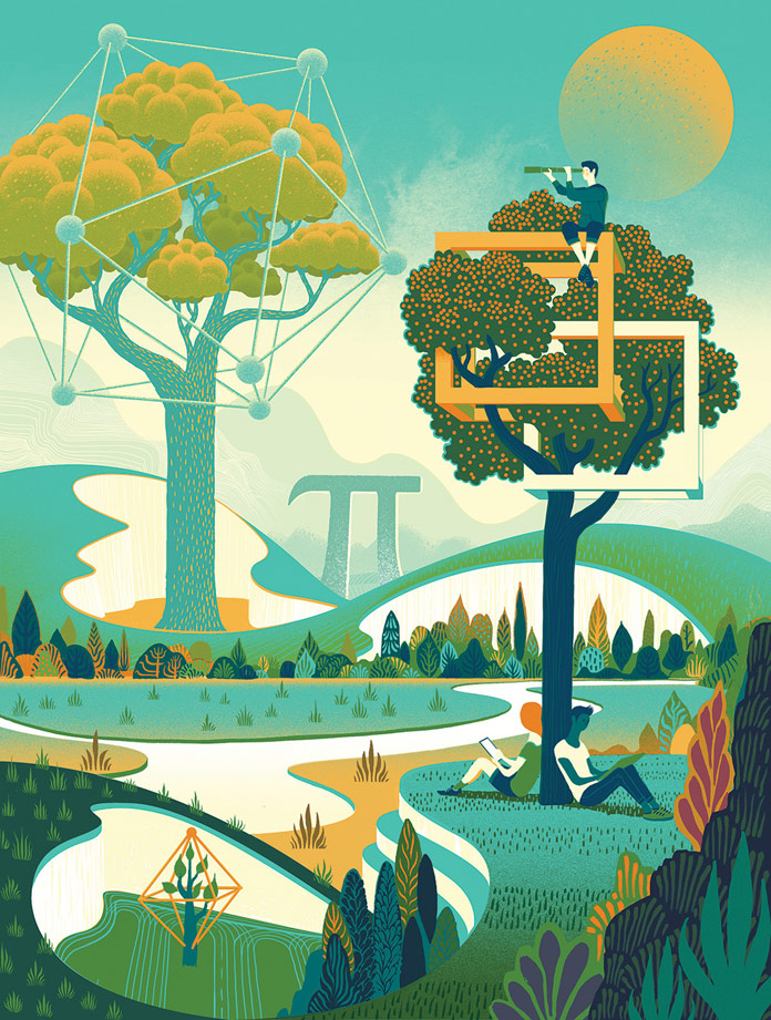 Online Trends Illustrations by Sam Chivers