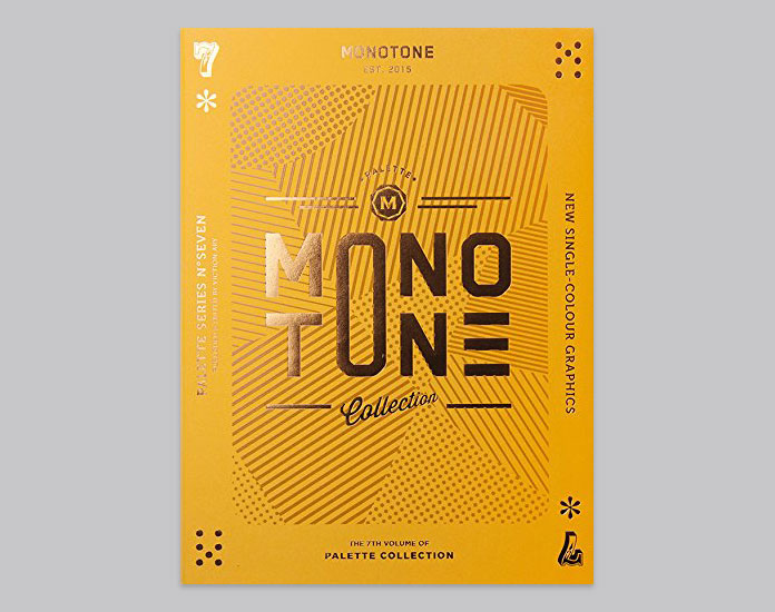 Palette 07: Monotone – New Single-Colour Graphics. A book publication from viction:ary.