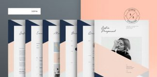 Sofia Pitch Pack – Adobe InDesign stationery and brochure templates.