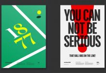 130 years of the Wimbledon championship - Special moment poster series by Deuce Studio.