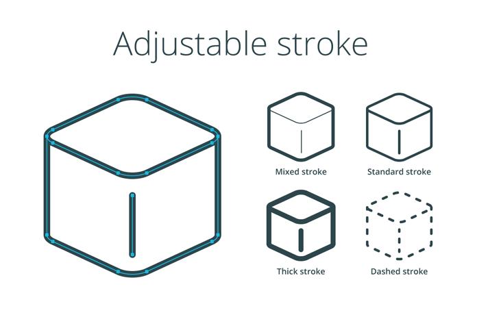 Adjustable strokes.