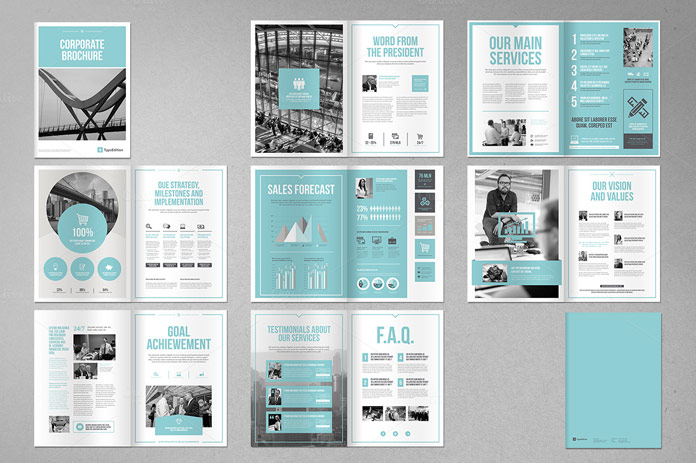 corporate brochure template for adobe indesign. Black Bedroom Furniture Sets. Home Design Ideas