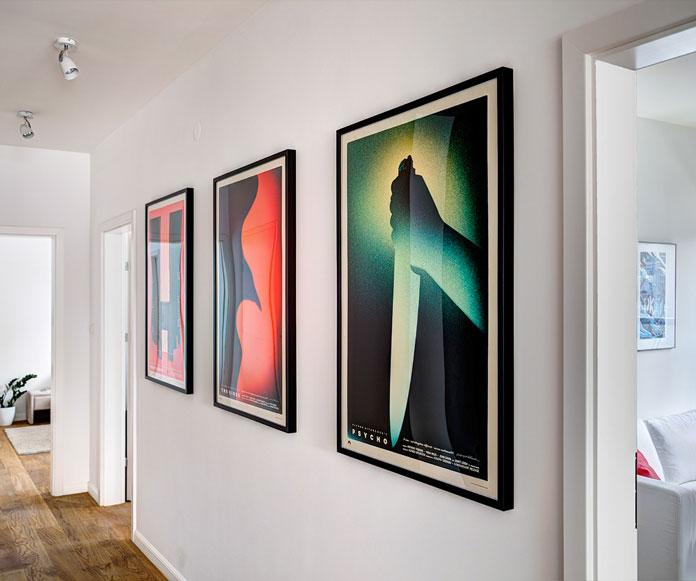 Framed prints of the trilogy.
