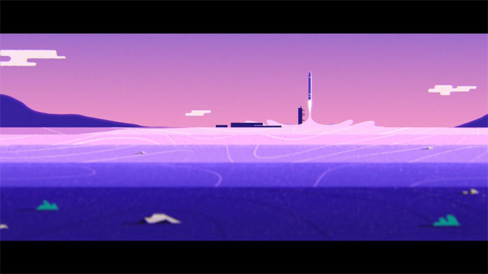 The video was created using mesmerizing colors of cosmic purples, pinks, and blue shades.