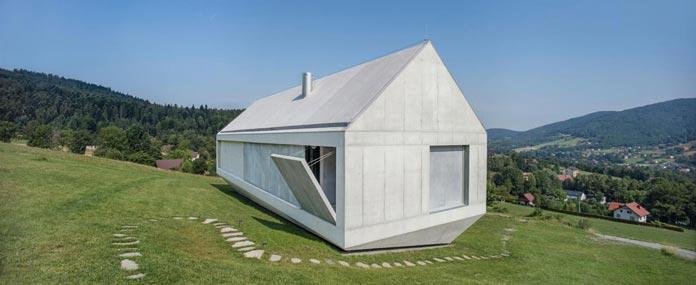 Architect Robert Konieczny has designed this unusual house.