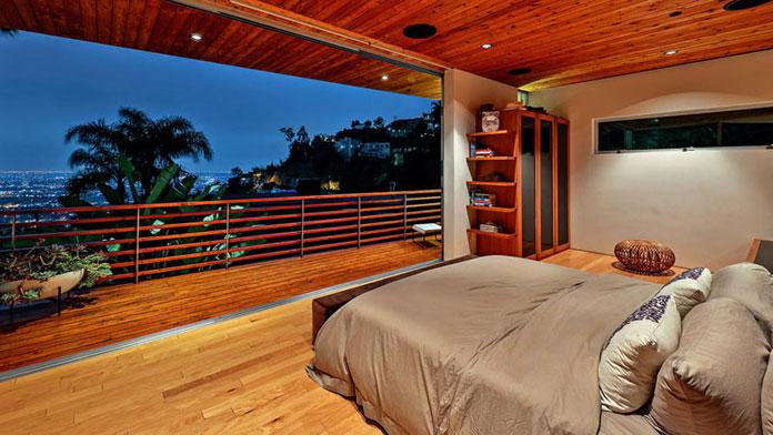 Bedroom with balcony.