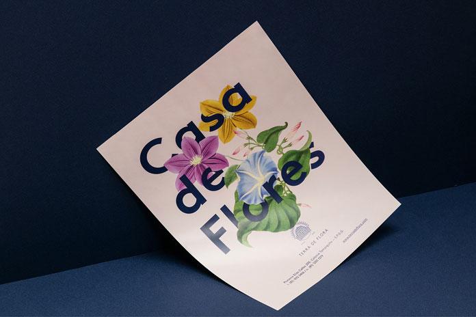 Floral poster design.