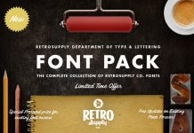 Download retro fonts.