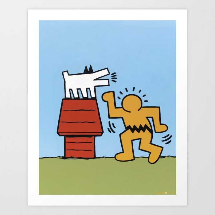 Keith Haring + Charles Schulz.