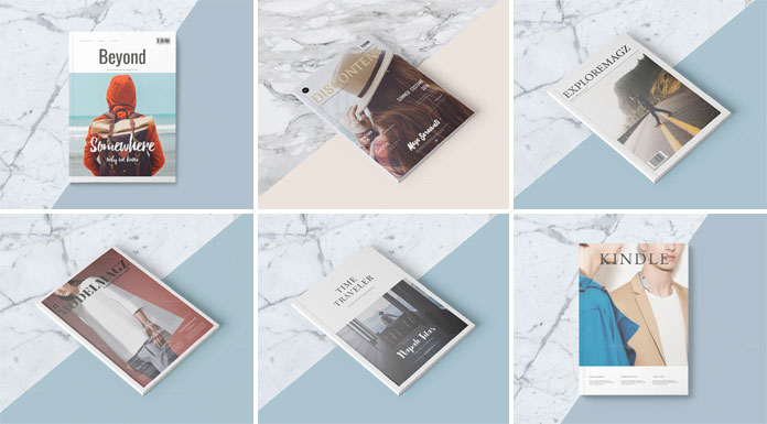 Magazine template bundle.