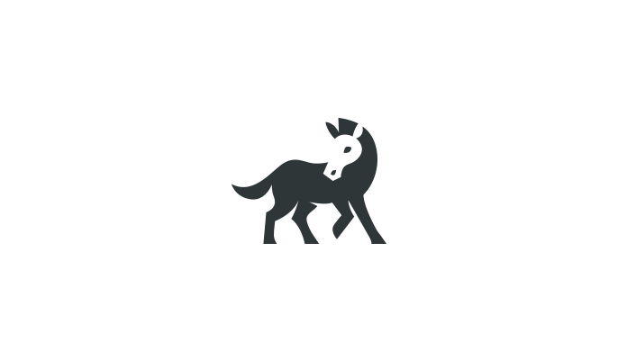 Negative space animal logo