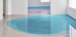 Dry flood installation by Peter Zimmermann.
