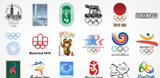 Summer Olympic Games logo design history.
