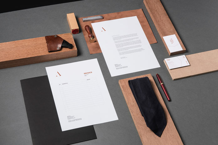 Corporate identity for Alpha Drive developed by multi-disciplinary design boutique Fable.