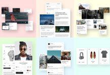 Ease – website UI kit.