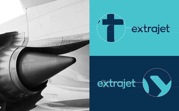 Extrajet – Airline branding by Alphabet.