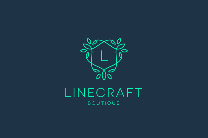 Linecraft Boutique Logo collection from Tortuga Studio.