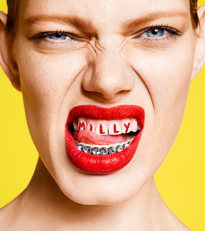 Milly - communication rebrand by Sagmeister & Walsh.