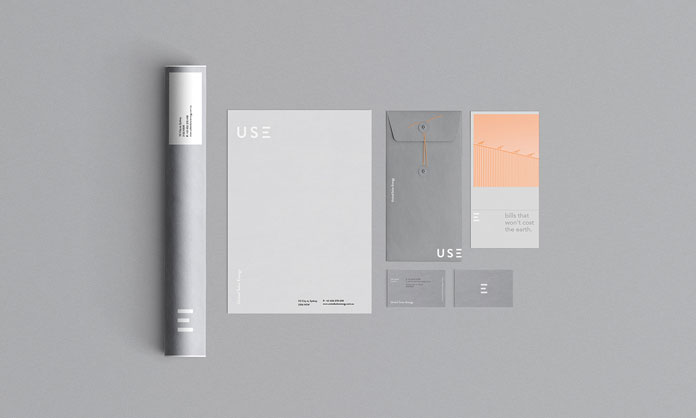U-S-E (United Solar Energy), corporate identity development by Madelyn Bilsborough.