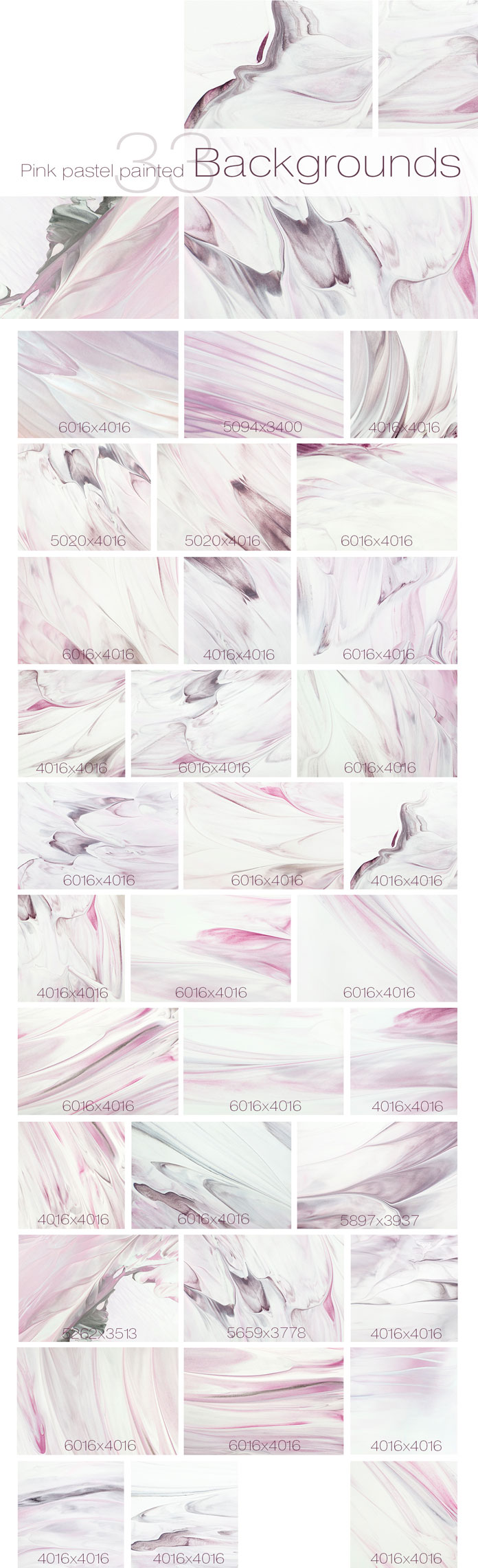 33 pastel painted backgrounds.