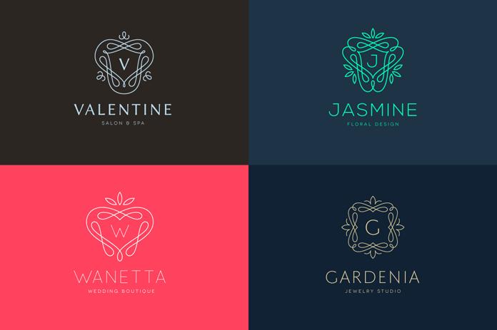 Elegant line logos and emblems.