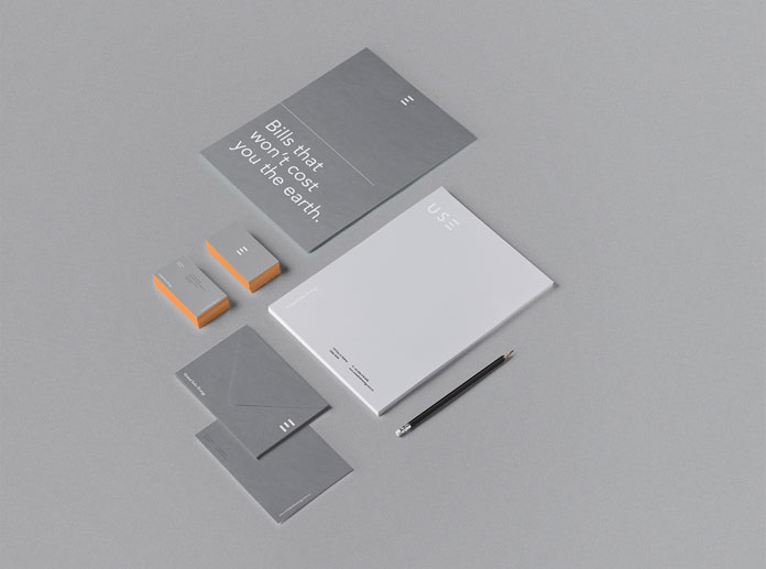 Brand and stationery system.