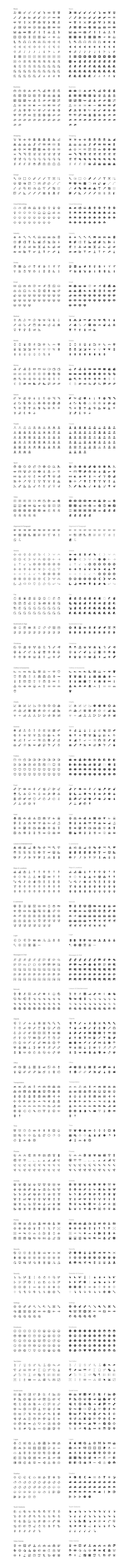 All 2,100 line icons.