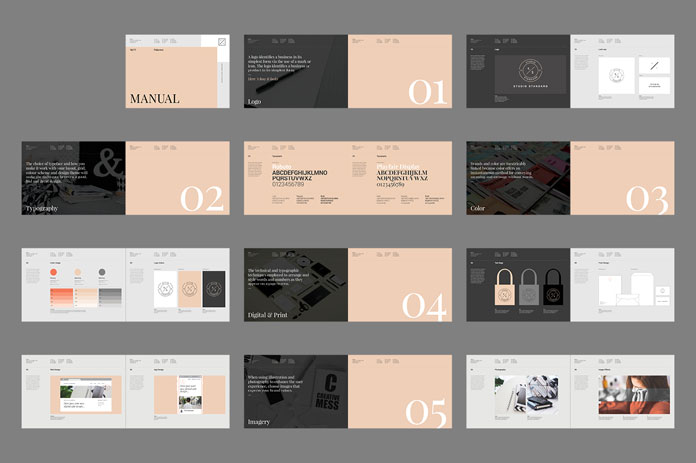 24 pages of brand guidelines.