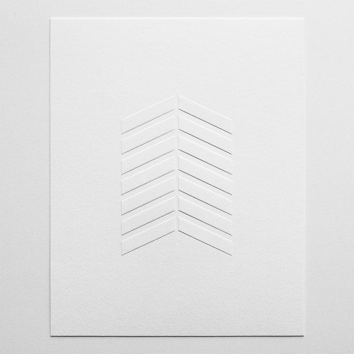 Chevron Emboss – blind-emboss art print.