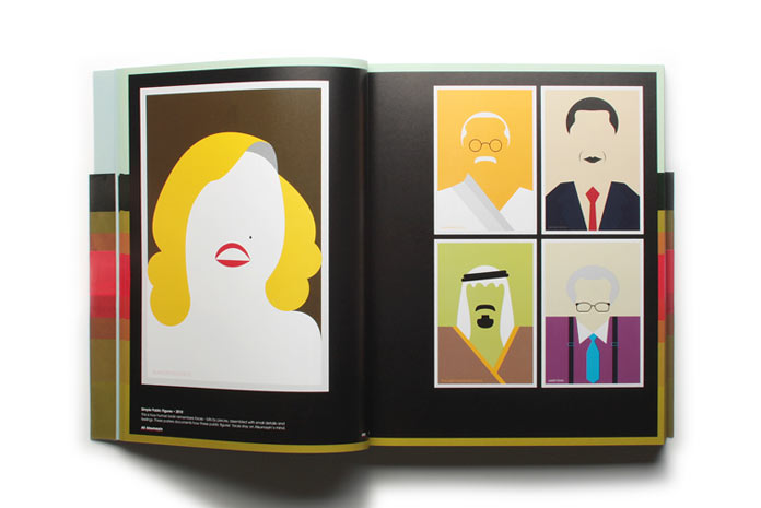 Portraits in a minimalist, flat style.