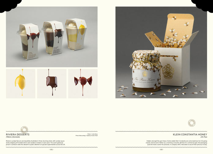 Riviera Desserts packaging by Nelson Associates and Klein Constantia Honey packaging by Alt Pace.