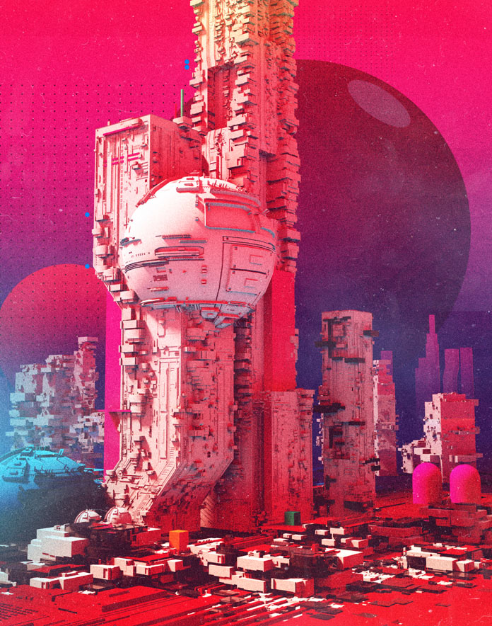 Could be a futuristic colony on a distant planet.