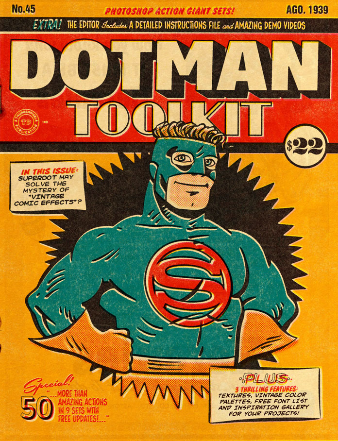 DotMan ToolKit – Vintage comic effects for Adobe Photoshop.