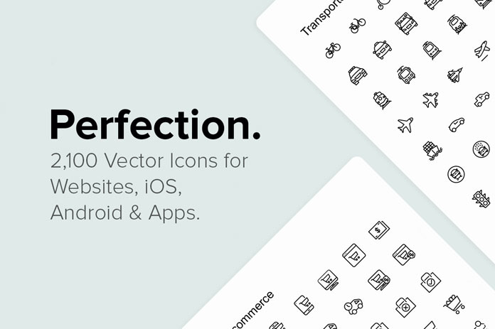 Download 2,100 Pixel Perfect Vector Icons
