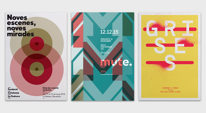 Graphic poster design inspiration by Quim Marin.