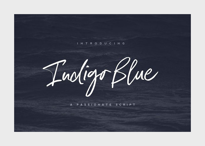 Indigo Blue font by Nicky Laatz.
