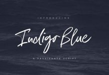 Indigo Blue typeface by Nicky Laatz