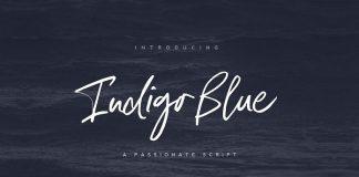 Indigo Blue typeface by Nicky Laatz