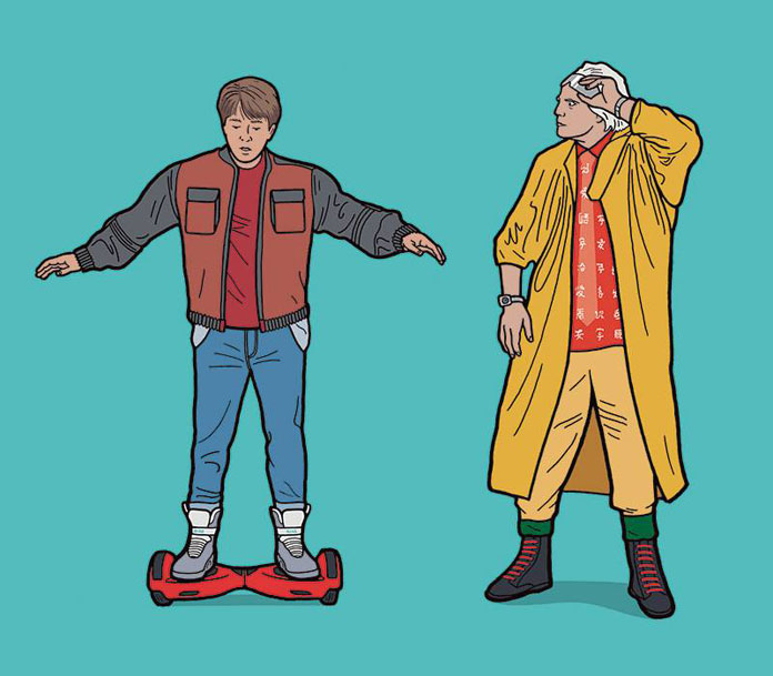 Marty McFly and Doc Brown.