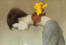 Pokémon Go, a satirical illustration by Pawel Kuczynski.