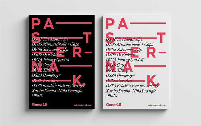 Simple typographic work.