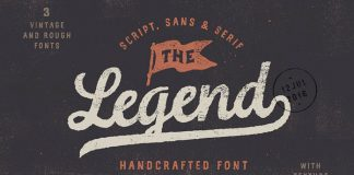 The Legend font trio