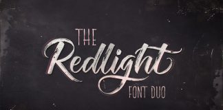 The Redlight font duo.