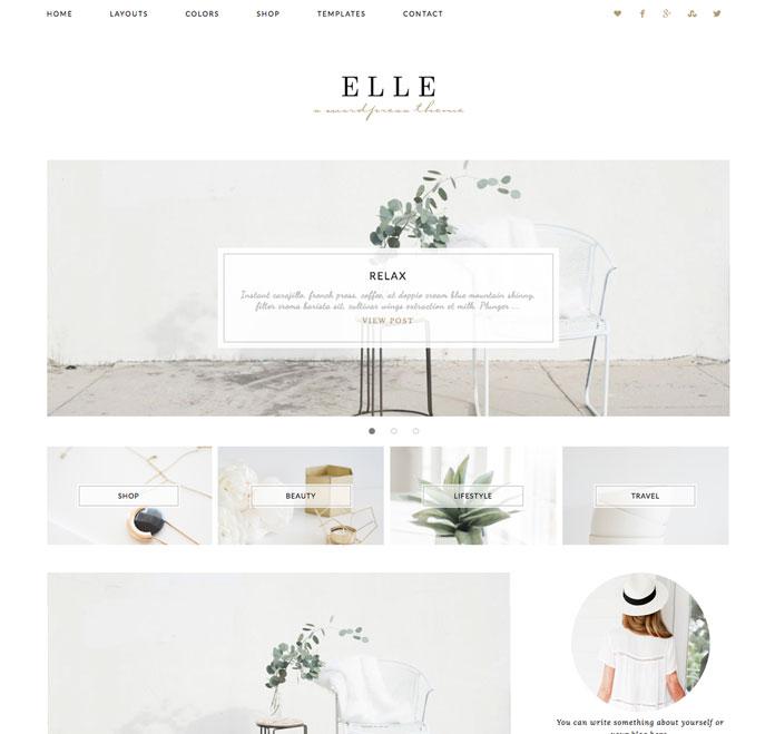 Elle - WordPress theme